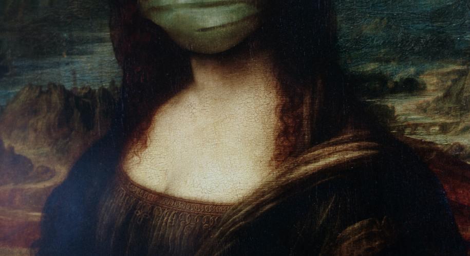 masked mona lisa